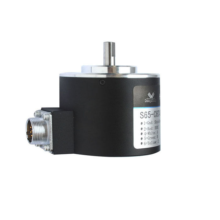 65mm Outer Dimension Optical Rotary Encoders 2048P / R Open Collector Output 12 - 24V DC